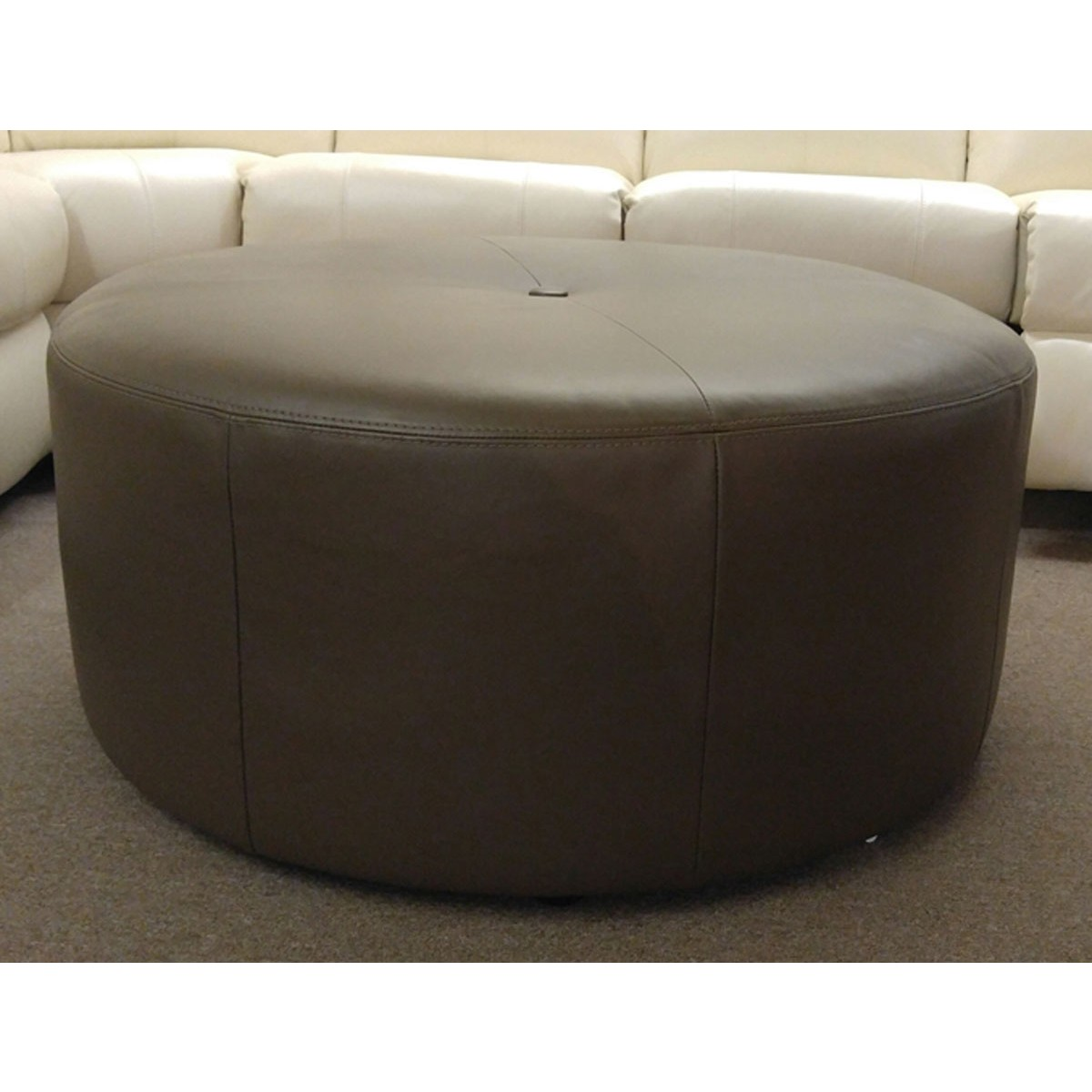 trim detail hs benches ivory room nailhead ottomans ot fabric newport ottoman round wht living products index