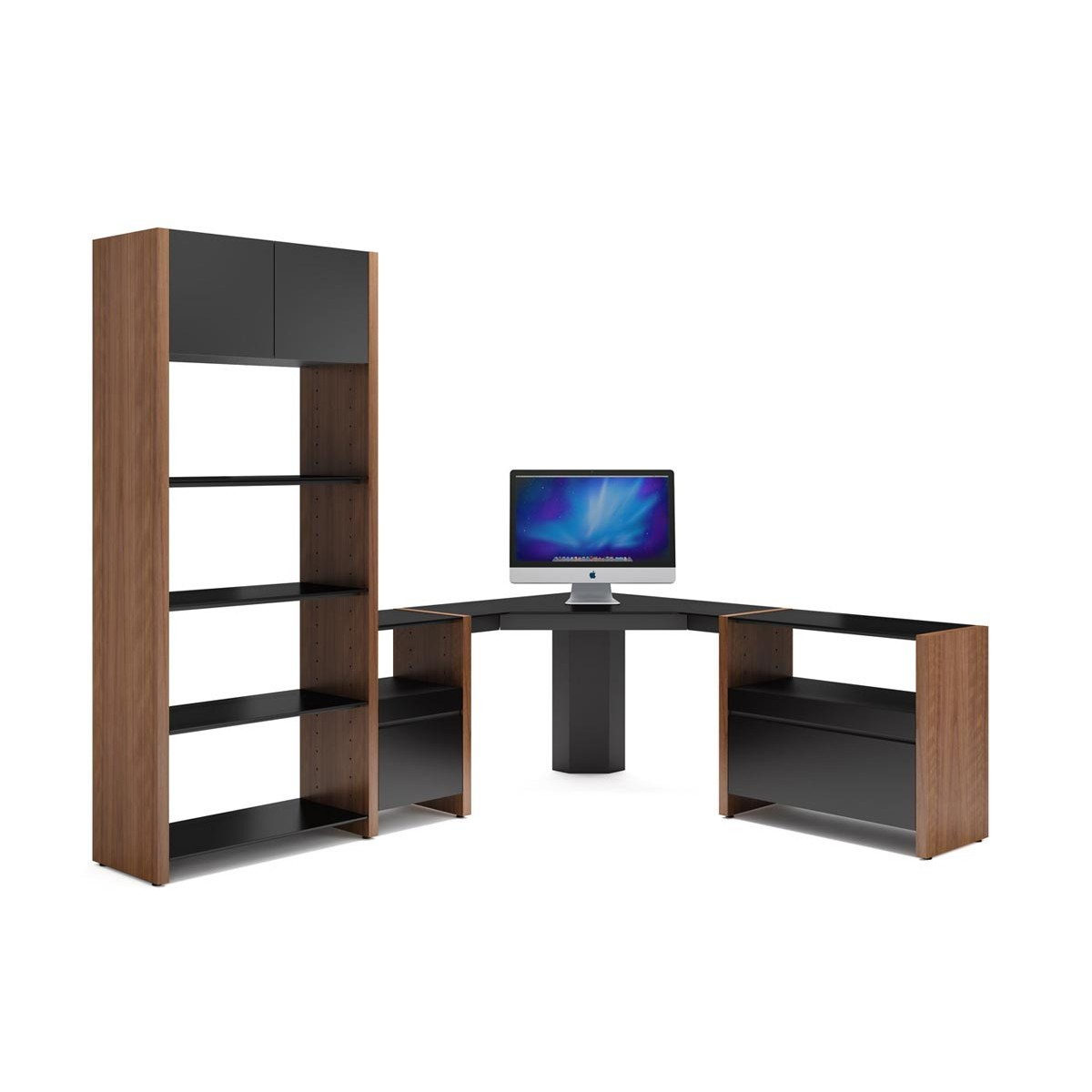 semblance office modular system desk. BDI Semblance Office 5464-CS Modular System Desk A
