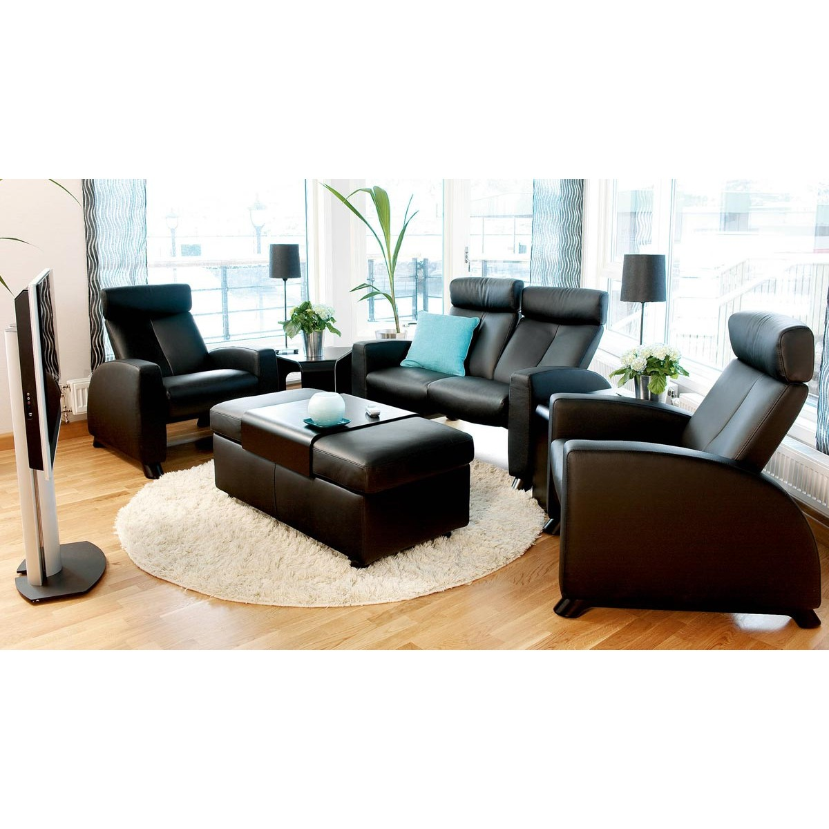 stressless arion high back sofa from 5 by stressless danco modern. Black Bedroom Furniture Sets. Home Design Ideas