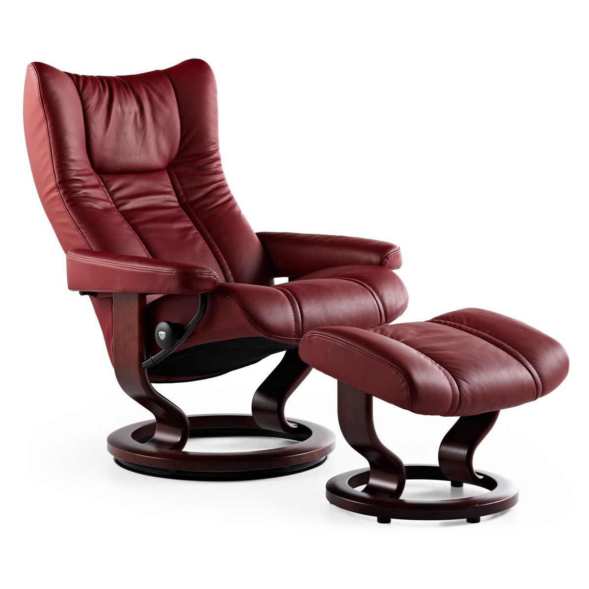 stressless wing medium recliner ottoman from 2. Black Bedroom Furniture Sets. Home Design Ideas