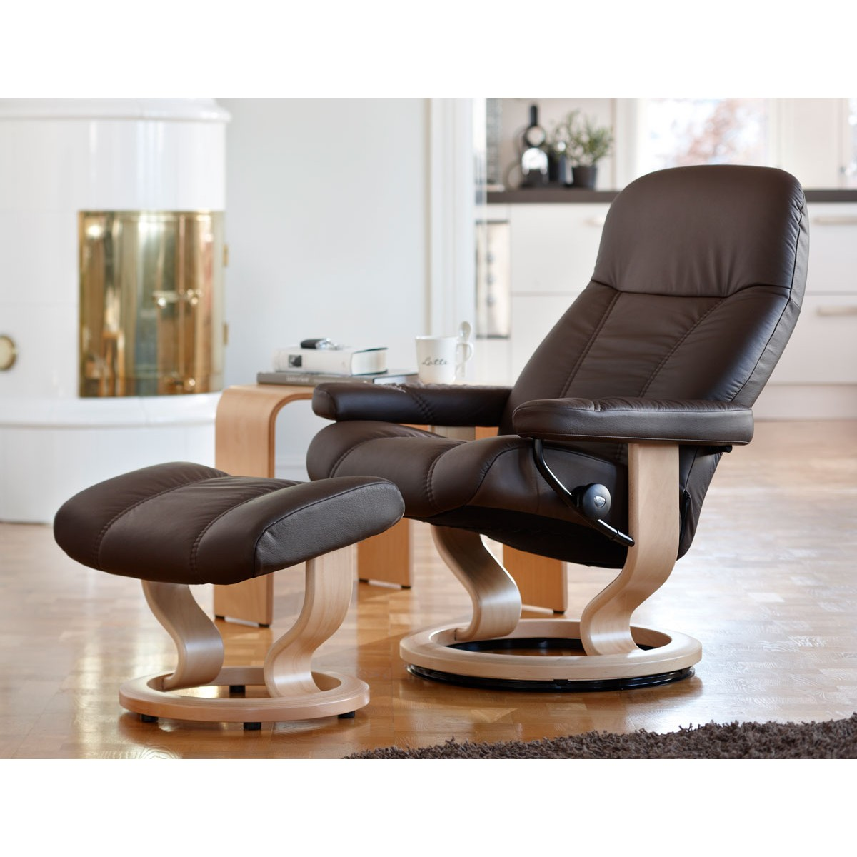 Stressless Consul Medium Recliner u0026 Ottoman  sc 1 st  Danco Modern & Stressless Consul Medium Recliner u0026 Ottoman from $1795.00 by ... islam-shia.org