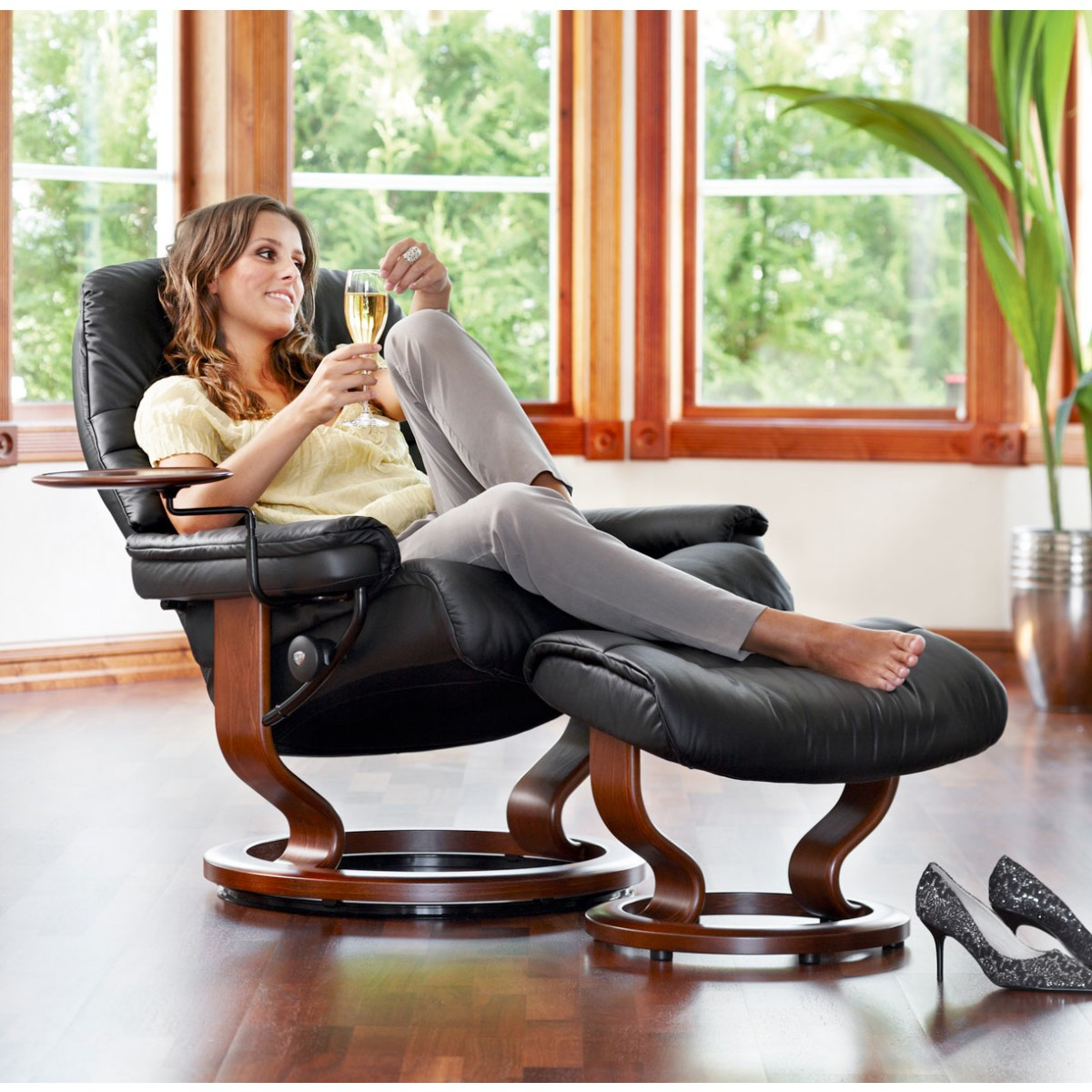 Stressless Sunrise Large Recliner Ottoman From 2 395 00 By