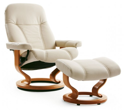 Stressless Consul Medium Recliner & Ottoman
