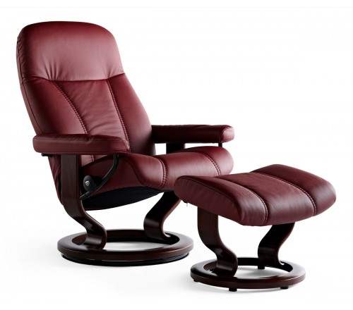 Stressless Consul Small Recliner & Ottoman