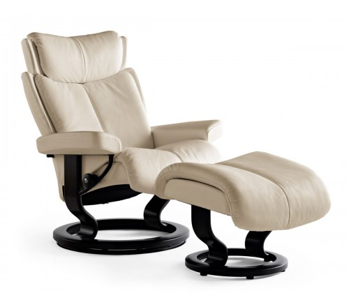 Stressless Magic Medium Recliner & Ottoman