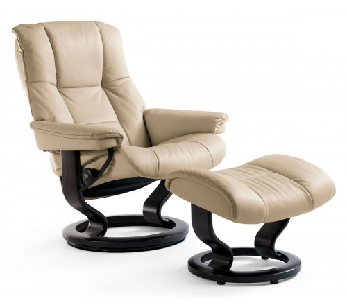 Stressless Mayfair Medium Recliner & Ottoman
