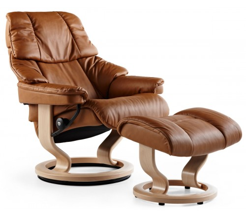 Stressless Reno Large Recliner & Ottoman