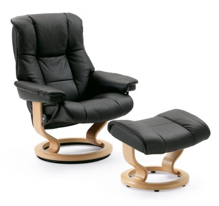 Stressless Mayfair Small Recliner & Ottoman