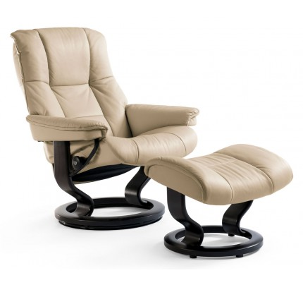 Stressless Mayfair Medium Recliner U0026 Ottoman