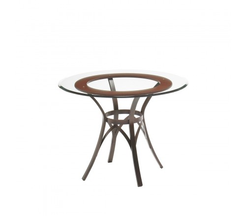 """Amisco Kai Table 36"""" With Wood Ring"""